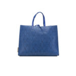 Borsa Manila Grace: bag bluette in ecopelle pitonata