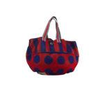Borsa Poppies: summer bag a mano righe e pois red & purple