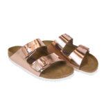 Birkenstock rose gold Arizona: sandali donna metalizzati