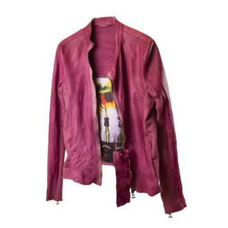 Giubbino pelle color rubino