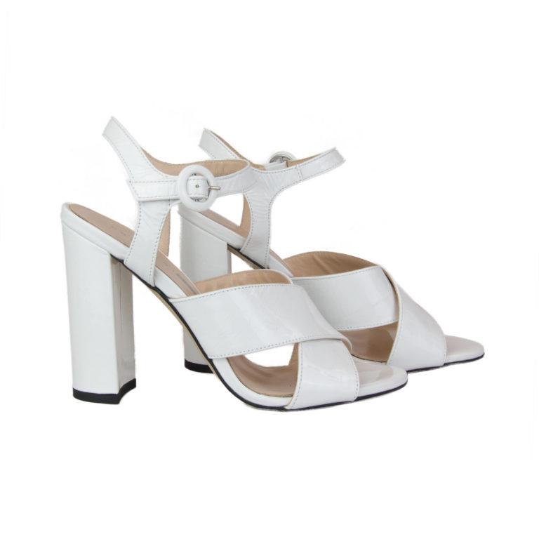 Sandali bianchi tacco alto