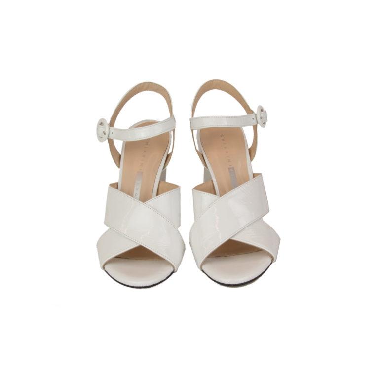 Sandali bianchi tacco alto 01