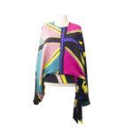 Blusa con baschina plissettata multicolor by Manila Grace