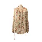 Camicia stampata: blusa donna Semicouture con farfalle multicolor