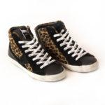 Sneakers alte leopardate: Paris L'Eclair Leo - Noir Beige by Philippe Model