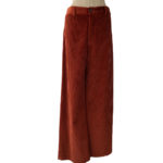 Pantalone velluto a coste: pants donna color bruciato by Attic and Barn
