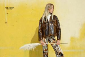 giacca pelle donna lucciola jacket momonì