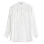 Camicia bianca lunga: camicia Dondup donna in misto seta