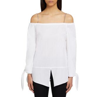 Blusa bianca elegante dondup