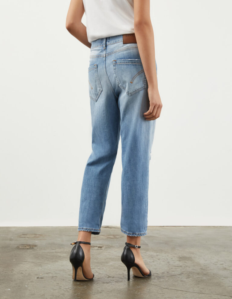 jeans bottone gioiello retro