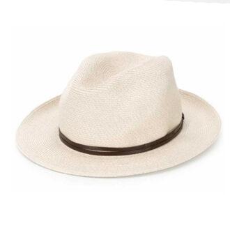 Cappello di paglia ecru