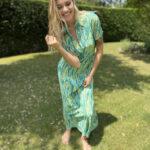 Abito chemisier: vestito donna a camicia fantasia jungle