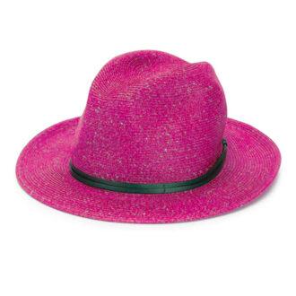cappello di paglia fucsia