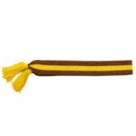 Cintura in tessuto: fusciacca bicolor con nappine sulle estremità