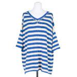 Maglia gioiello: blusa donna a righe con motivo di strass