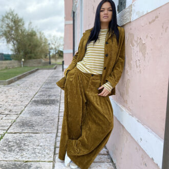 Pantaloni oversize di velluto