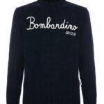 Pullover misto cashmere: maglione nero Bombardino Ski Club