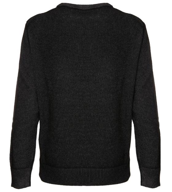 retro maglione nero off piste