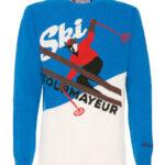 Maglione uomo bluette: maglia stampa Courmayeur by Mc2 Saint Barth