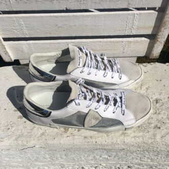 Philippe Model: sneakers blanc argent RM02