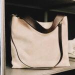 Borsa Jackie Sensory cera: shopping bag scamosciata