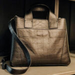 Borsa a due manici in pelle stampata cocco by Orciani