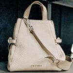 Secchiello bag soft color conchiglia: borsa Fan by Orciani