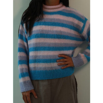 maglione soft colori pastello con dettagli lurex