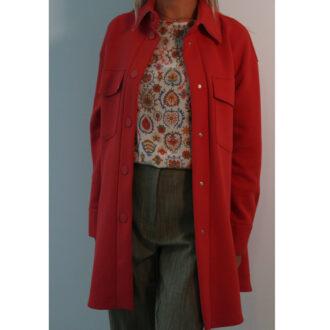 cappotto doppiopetto rosa
