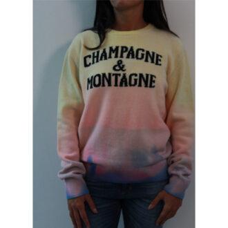 maglione champagne e montagne